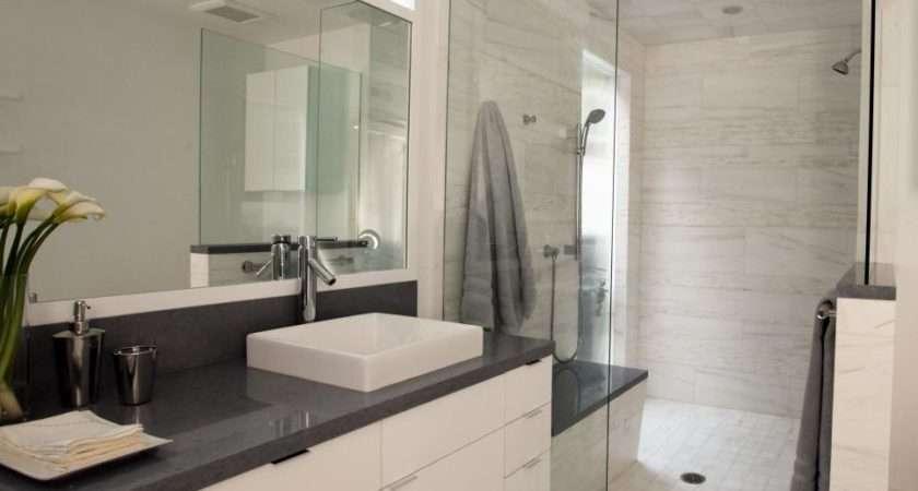 Contemporary White Bathroom Christopher Grubb Hgtv