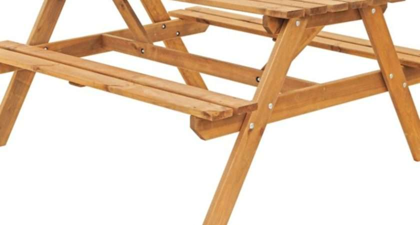 Continue Shopping Blooma Wooden Picnic Benches Table Garden Set