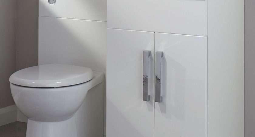 Cooke Lewis Ardesio Gloss White Vanity Toilet Pack
