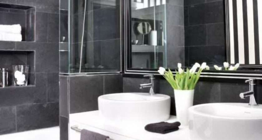 Cool Black White Bathroom Design Ideas Digsdigs