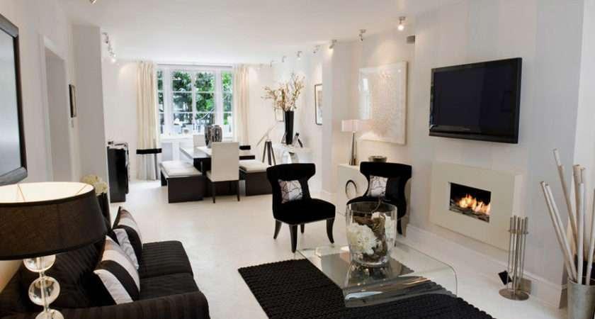Cool Black White Living Room Decoration Ideas