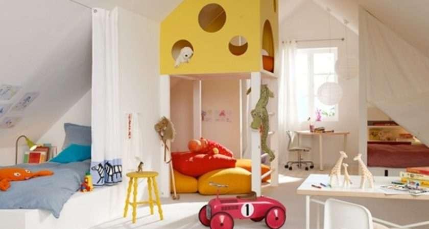 Cool Design Ideas Attic Kids Room Kidsomania