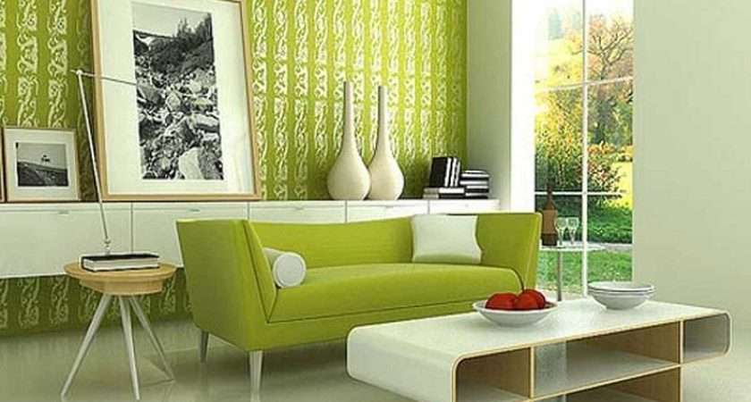 Cool Home Green Modern Living Room