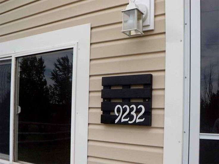 Cool House Number Idea Home Pinterest