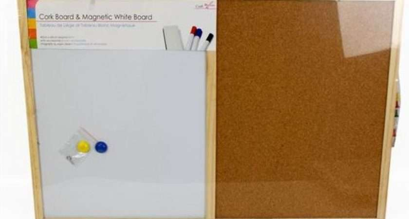 Cork Memo White Magnetic Pin Board Office Kitchen Notice