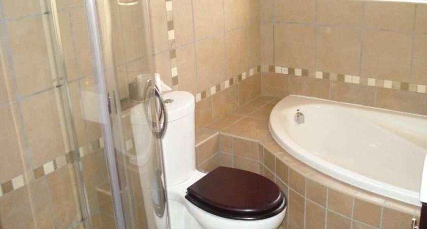 Corner Bath Shower Installed Master Bathroom Ideas