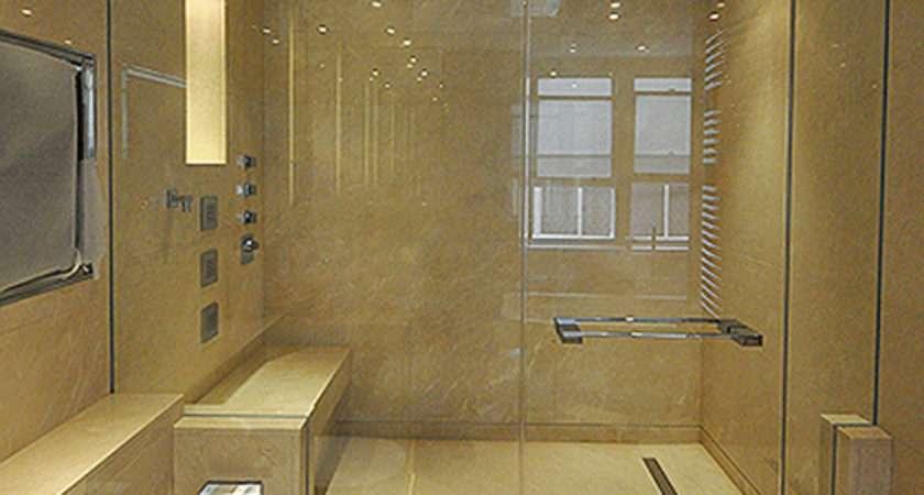 Corner Cut Roof Pitch Frameless Showers Ssi