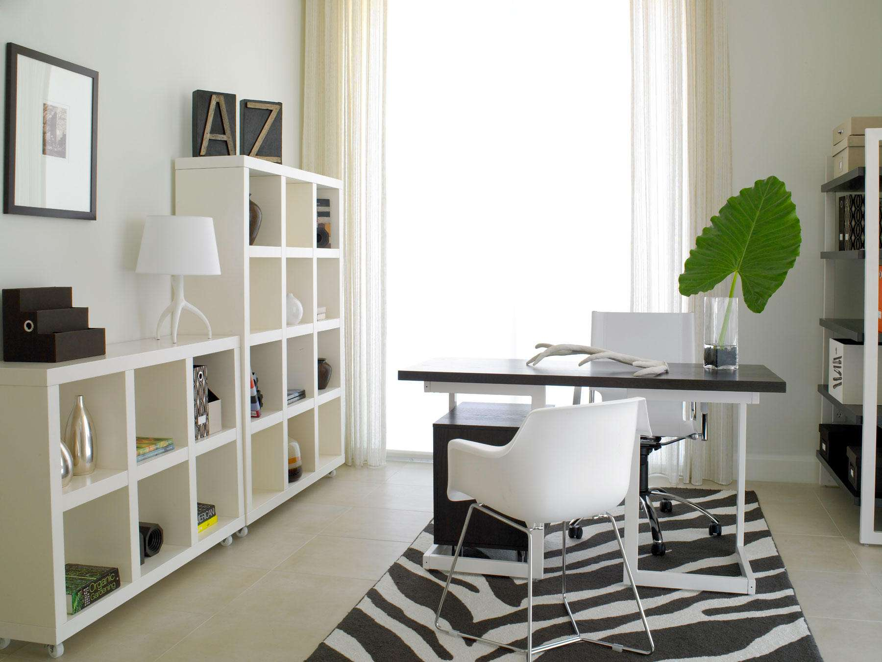 Corner Home Office Desk Shaped Contemporary