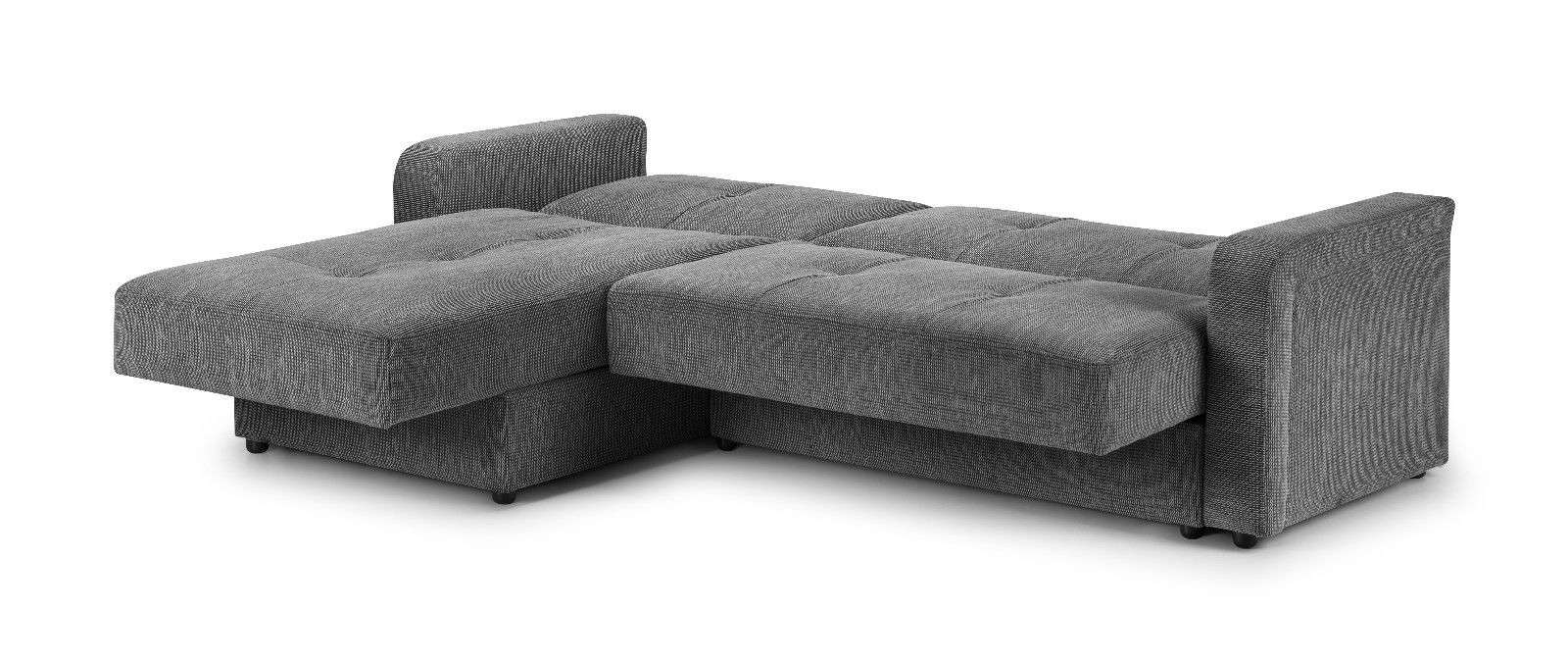 Corner Sofa Bed Grey Turin Sofas Less Fashion