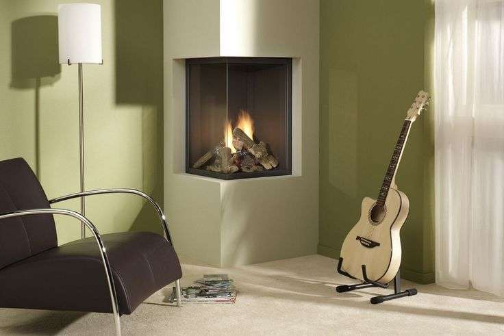 Cornerfireplaceideas Retro Modern Two Sided Corner Fireplace