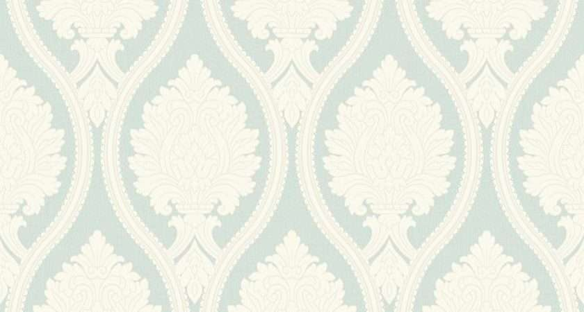 Corona Duck Egg Arthouse Bold Damask Design