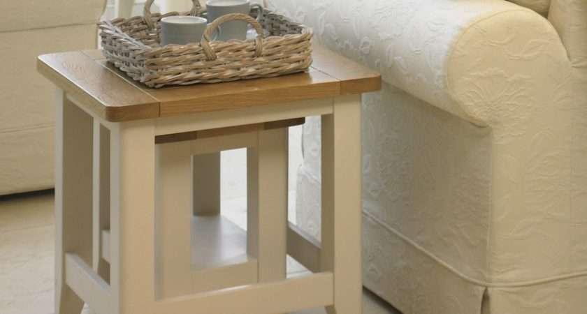 Cottage Oak Painted Nest Tables Furniture
