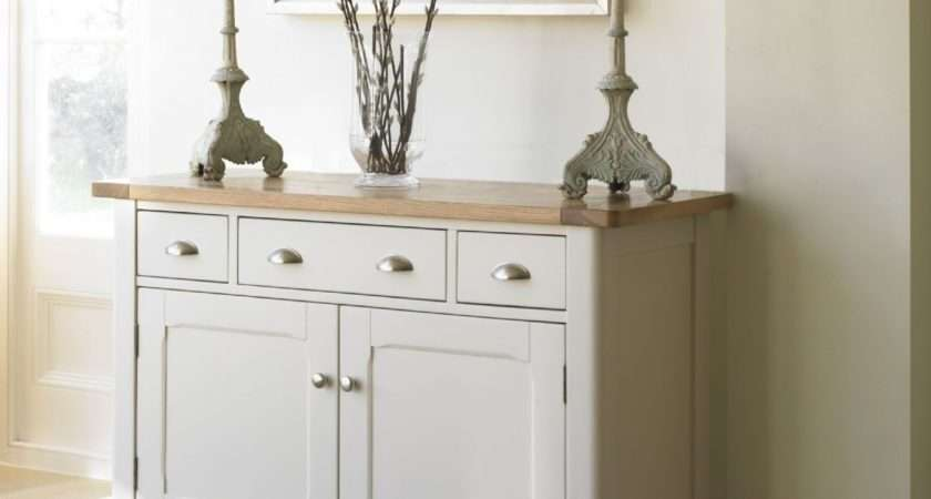 Cottage Oak Painted Small Sideboard Furniture