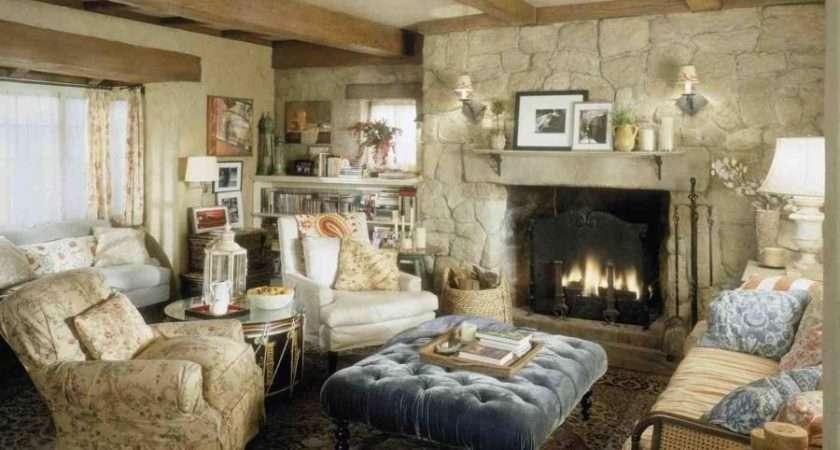 Cottage Style Fireplace Photos
