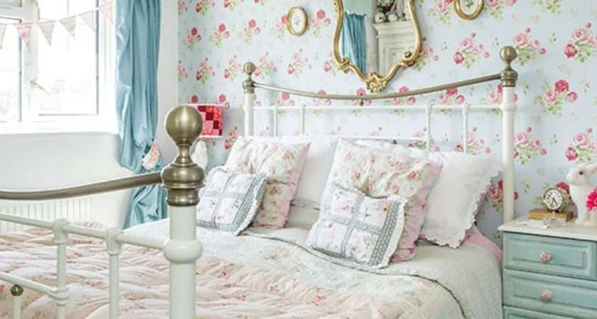 Country Bedroom Blue Floral