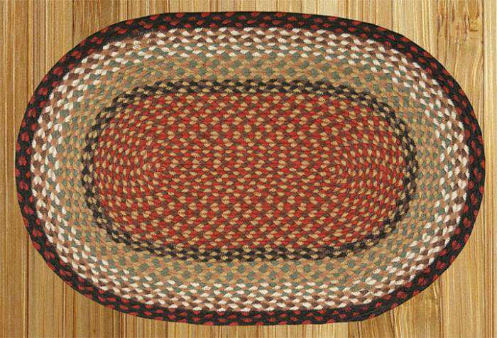 Country Braided Rugs Oval Earth Decor