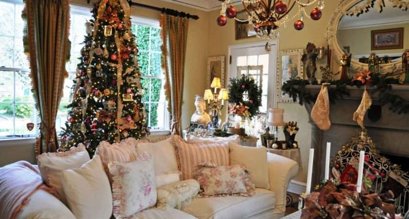 Country Christmas Living Room Curtain Ideas Latest
