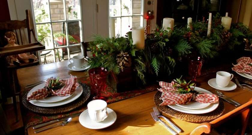 Country Christmas Table Decorations Impressive