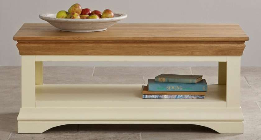 Country Cottage Natural Oak Painted Coffee Table