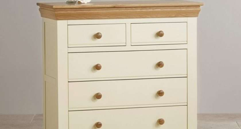 Country Cottage Painted Chest Drawers Natural Oak