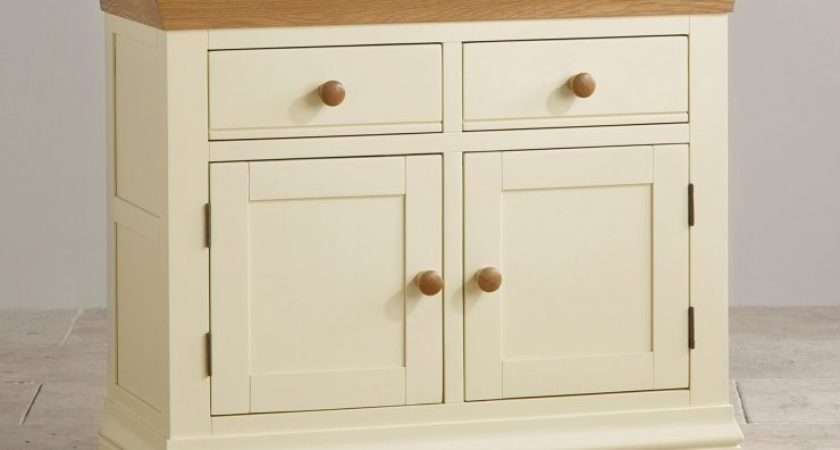 Country Cottage Small Sideboard Cream Painted Oak