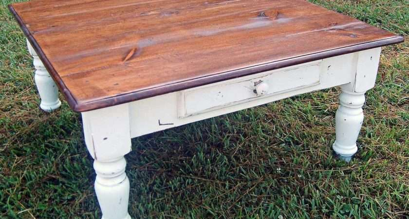 Country Farm Turned Leg Coffee Table Cottage Home