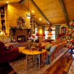 Country French Home Decorated Christmas Show Decorating