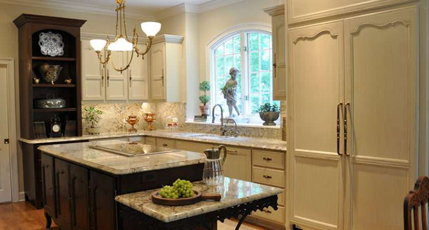 Country French Kitchen Island Cabinets Tribble