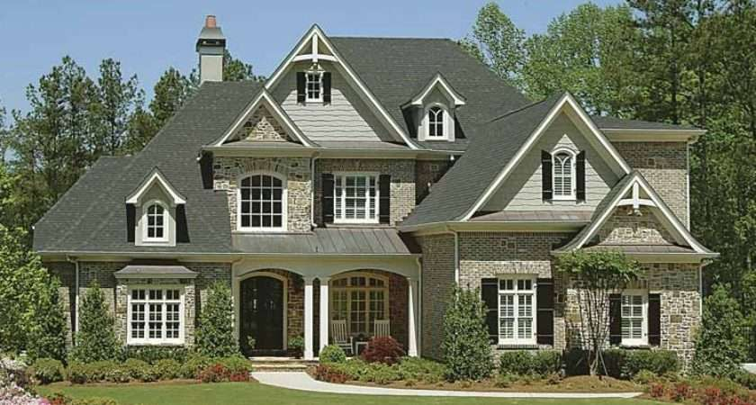 Country Home Designs Grey Roof Stony Wall Beautiful