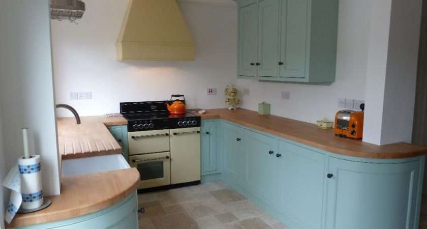 Country Kitche Kitchen Handpainted Duck Egg Blue