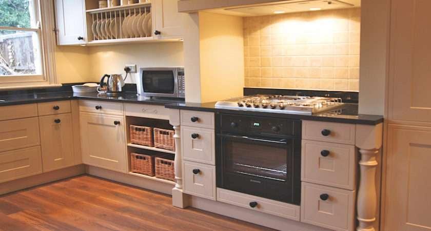 Country Kitchen Beige Grey Island Shaker