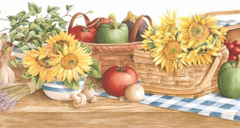 Country Kitchen Border Grasscloth