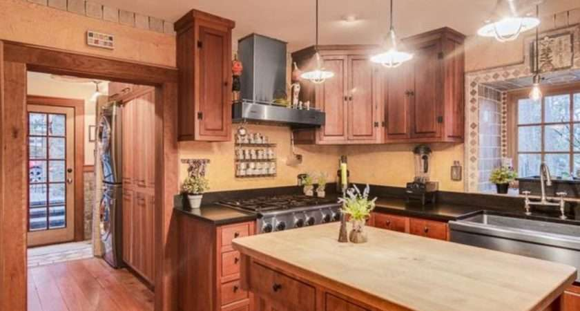 Country Kitchen Wood Counters Slate Eugene