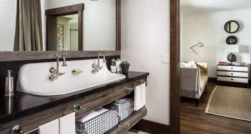 Country Style Bathroom Reclaimed Wood Sink Vanity