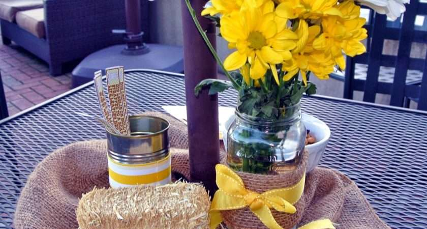 Country Western Table Decor Photograph Theme Party