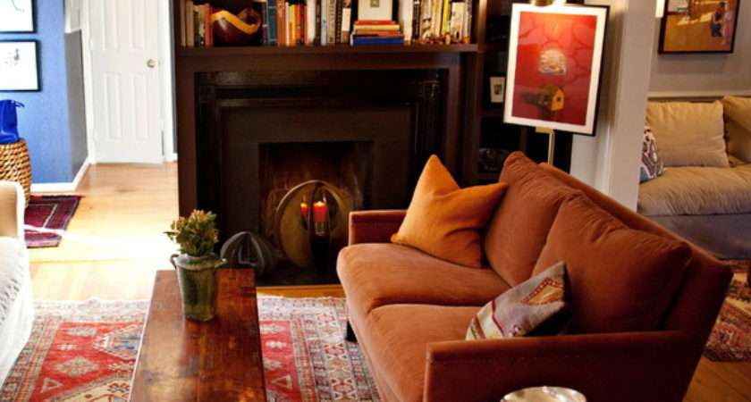 Cozy Cottage Eclectic Living Room Raleigh