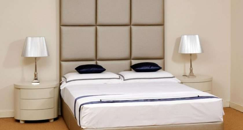 Cozy High Headboards Stylish Modern Beds Faux Leather