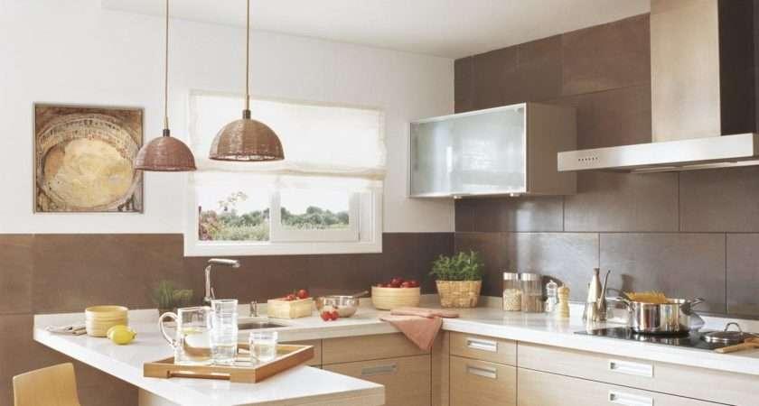 Cozy Small Kitchen Design Mini Bar Stools