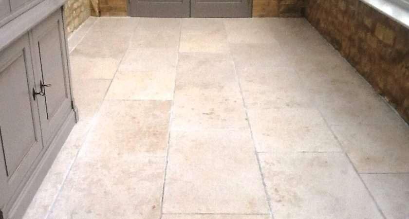 Cracked Limestone Conservatory Floor Restored Grafton