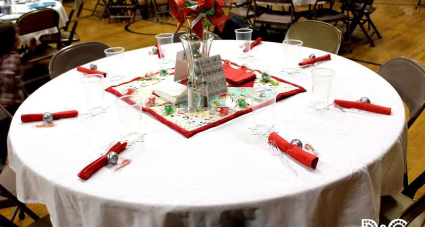 Craft Christmas Party Table Decor Part