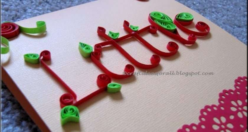 Craft Ideas All Personalised Greeting Card