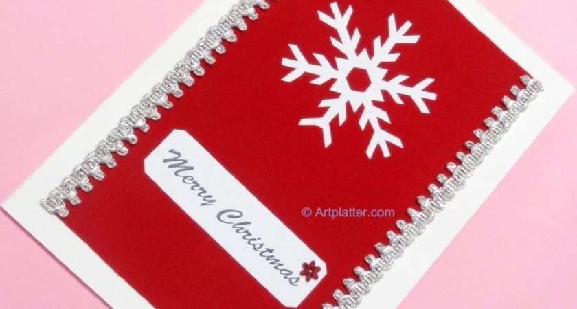 Crafts Christmas Card Snowflake Felt Pattern