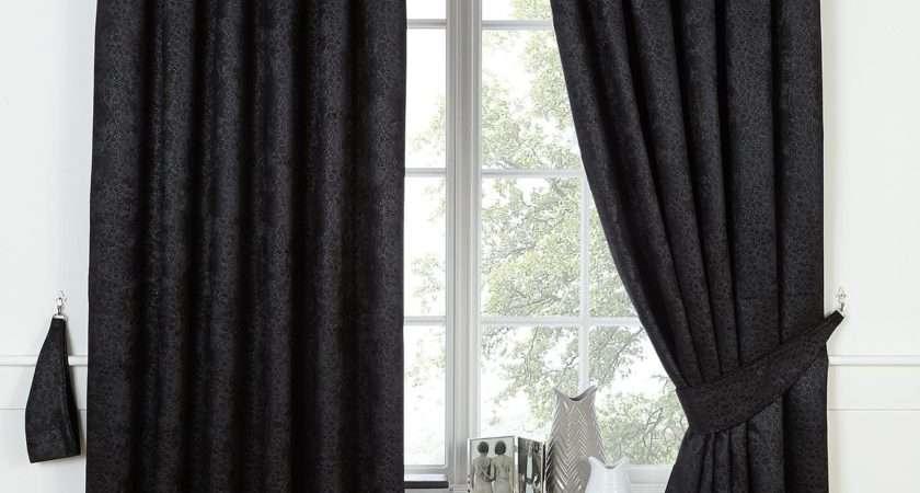 Cranley Inch Blackout Curtains Charcoal Gold Black