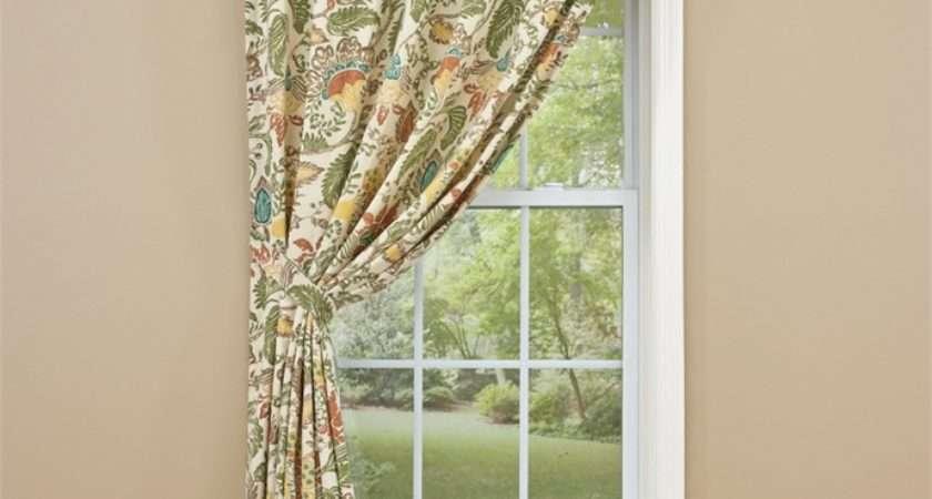 Cream Elise Lined Single Curtain Panel