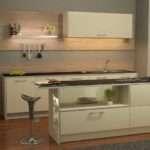 Cream Kitchen Cabinets Black Granite Worktops