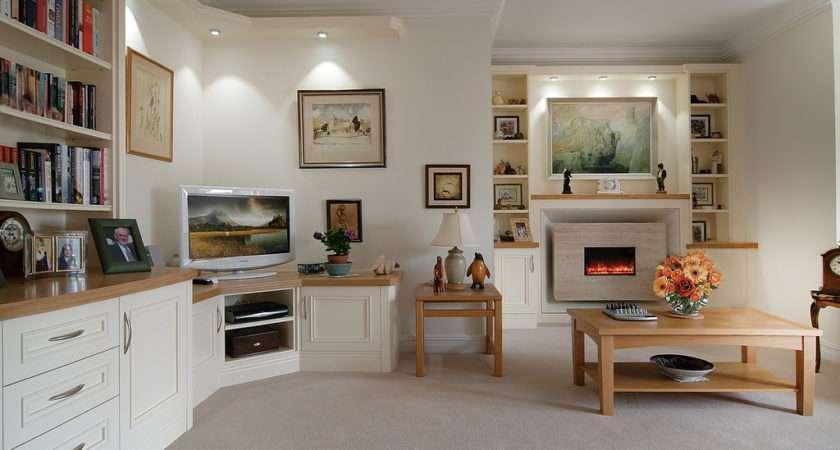 Cream Oak Lounge Fine Bespoke Fitted Furniture