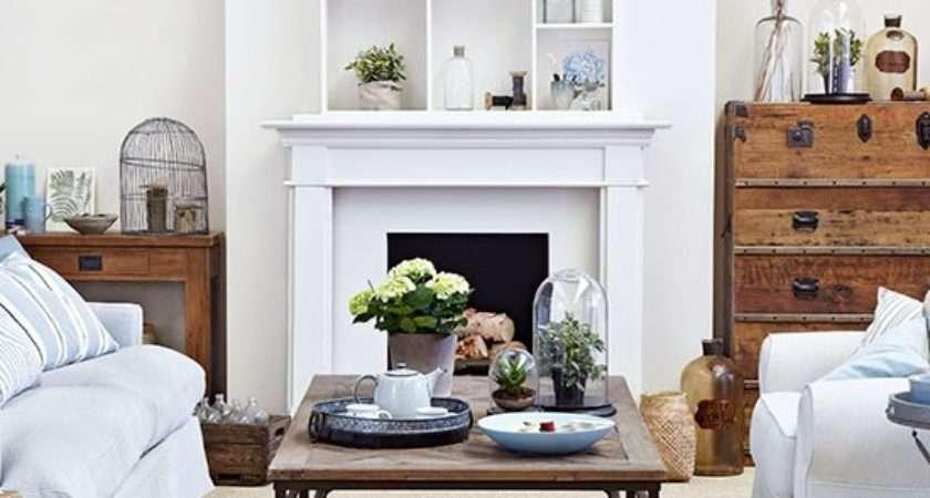 Cream Sky Blue Living Room Housetohome