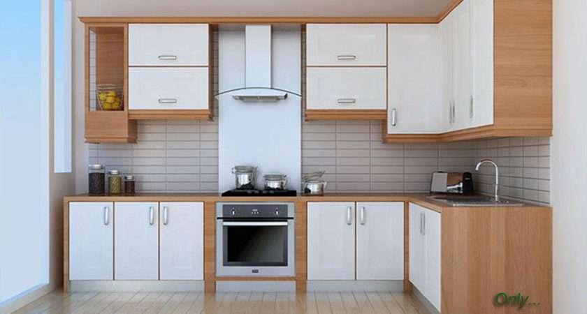 Cream Slab Used Kitchen Cabinets