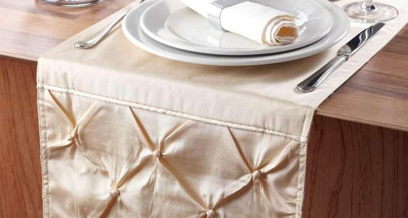 Cream Sorrento Table Runner Elegant Has Both