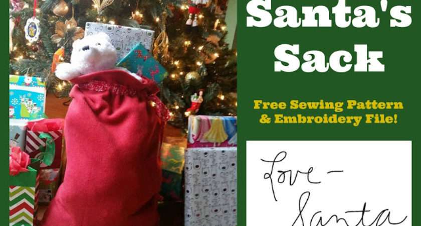 Create Kids Couture Santa Sack Pattern Embroidery